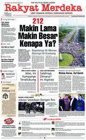 Cover Rakyat Merdeka 03 Desember 2018