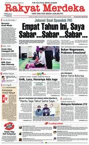 Cover Rakyat Merdeka 08 Desember 2018