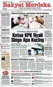 Cover Rakyat Merdeka 10 Januari 2019