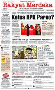 Cover Rakyat Merdeka 11 Januari 2019