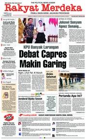 Cover Rakyat Merdeka 12 Januari 2019