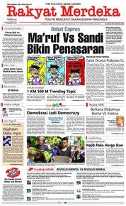 Rakyat Merdeka Cover 14 January 2019