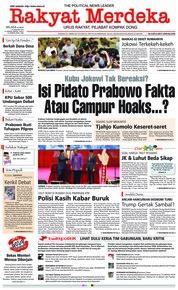 Cover Rakyat Merdeka 15 Januari 2019