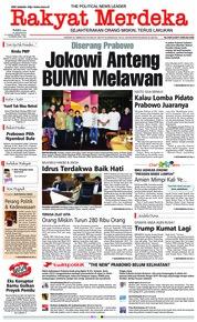 Rakyat Merdeka Cover 16 January 2019