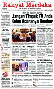 Cover Rakyat Merdeka 17 Januari 2019