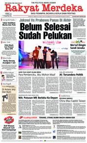 Cover Rakyat Merdeka 18 Januari 2019