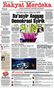 Cover Rakyat Merdeka 20 Januari 2019