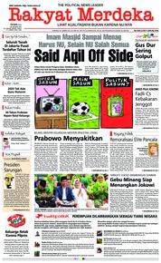 Rakyat Merdeka Cover 28 January 2019