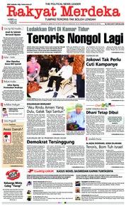 Cover Rakyat Merdeka 14 Maret 2019