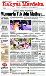 Cover Rakyat Merdeka 17 Maret 2019