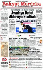 Cover Rakyat Merdeka 18 Maret 2019