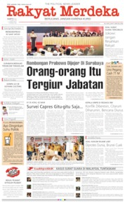 Rakyat Merdeka Cover 13 April 2019