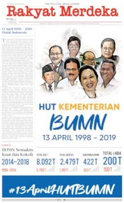 Cover Rakyat Merdeka 16 April 2019