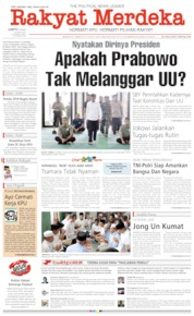Cover Rakyat Merdeka 20 April 2019