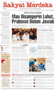 Cover Rakyat Merdeka 21 April 2019