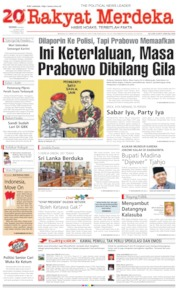 Cover Rakyat Merdeka 22 April 2019