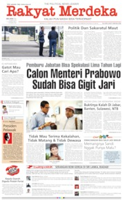 Cover Rakyat Merdeka 23 April 2019
