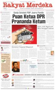 Cover Rakyat Merdeka 13 Mei 2019
