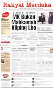 Cover Rakyat Merdeka 27 Mei 2019
