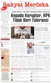 Rakyat Merdeka Cover 29 May 2019