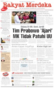 Rakyat Merdeka Cover 15 June 2019