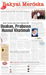 Rakyat Merdeka Cover 25 June 2019