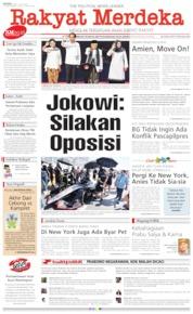 Cover Rakyat Merdeka 15 Juli 2019