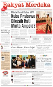 Rakyat Merdeka Cover 20 July 2019