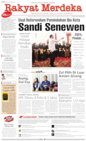 Cover Rakyat Merdeka 24 Agustus 2019