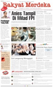 Rakyat Merdeka Cover 25 August 2019