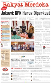 Cover Rakyat Merdeka 14 September 2019