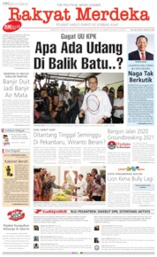 Rakyat Merdeka Cover 20 September 2019