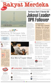 Cover Rakyat Merdeka 22 September 2019