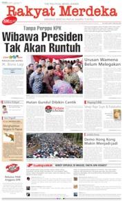 Cover Rakyat Merdeka 07 Oktober 2019