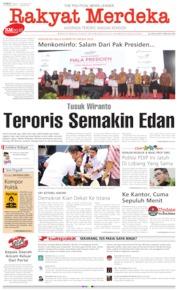 Cover Rakyat Merdeka 11 Oktober 2019