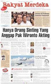 Cover Rakyat Merdeka 12 Oktober 2019
