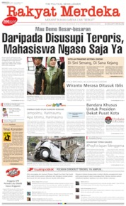 Cover Rakyat Merdeka 13 Oktober 2019