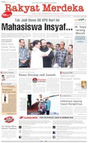 Cover Rakyat Merdeka 14 Oktober 2019