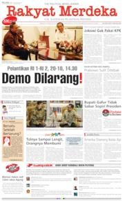 Cover Rakyat Merdeka 15 Oktober 2019