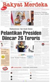Cover Rakyat Merdeka 16 Oktober 2019