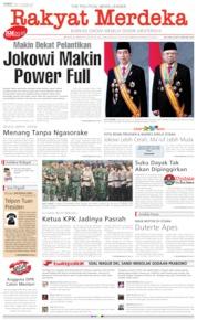 Cover Rakyat Merdeka 18 Oktober 2019