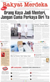 Rakyat Merdeka Cover 22 October 2019