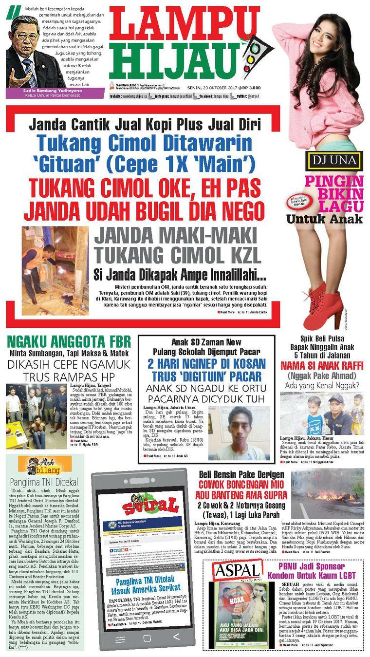 Lampu Hijau Newspaper 23 October 2017 Gramedia Digital Kopi Janda
