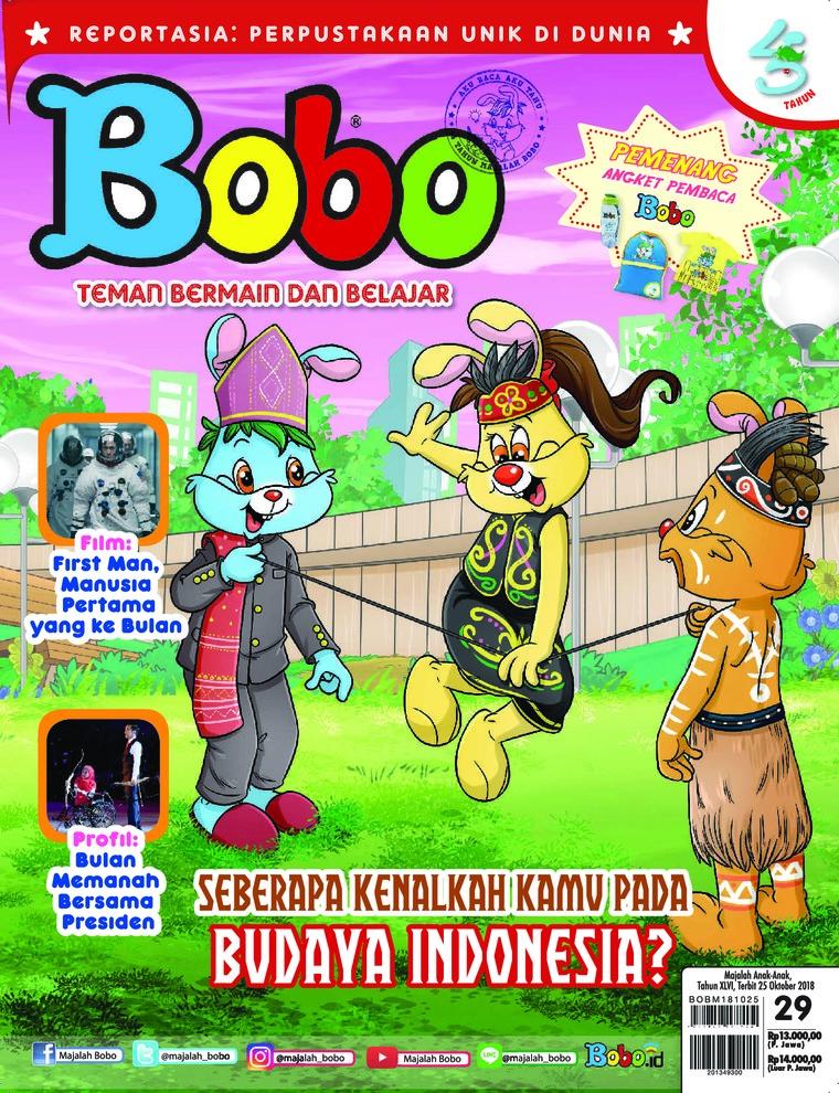 Majalah Digital Bobo ED 29 Oktober 2018