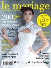 Le mariage Magazine Cover April–June 2015