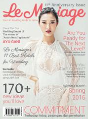 Le mariage Magazine Cover January–March 2016