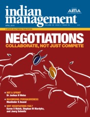 Indian management Magazine Cover April 2019