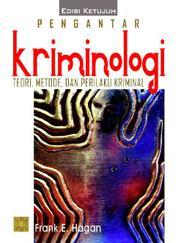 Cover Pengantar Kriminologi oleh Frank E. Hagan