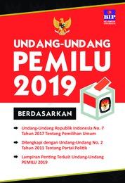 Undang-Undang Pemilu 2019 by Tim Redaksi BIP Cover