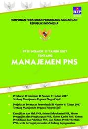 Peraturan Pemerintah RI No.11 Tahun 2017 Tentang Manajemen PNS by Tim Redaksi BIP Cover